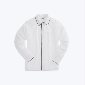 SLEEPY JONES // Henry Pajama Shirt End on End White