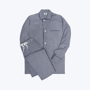 SLEEPY JONES // Lowell Pajama Set Small Gingham Navy