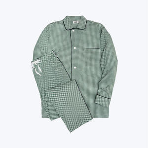 SLEEPY JONES // Lowell Pajama Set Small Gingham Green