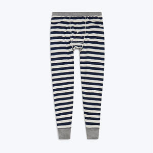 SLEEPY JONES // Kieth Long Johns Navy Slub Stripe