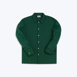 Henry Pajama Shirt // Tie Stripe Green & Navy