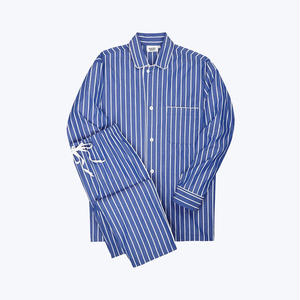 SLEEPY JONES // Lowell Pajama Set Tie Stripe Blue&White