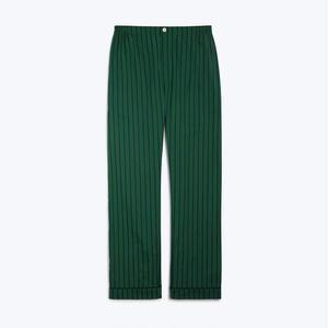 Marcel Pajama Pant // Tie Stripe Green & Navy
