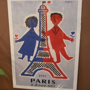 フランス製、レイモン、サヴィニャックのポスター NO,4