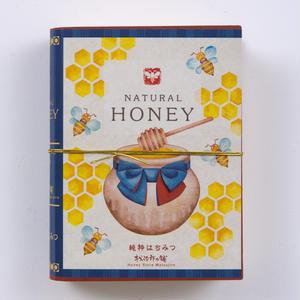 プチギフトボックス BookBee 松坂バージョン はちみつのど飴 3袋 れんげ味、レモン味、いちご味 3袋入り