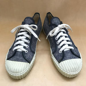 Deadstock 1990年代 アメリカ製 VANS PLIMSOLL W/RIBBED BUMPER NAVY CHAMBRAY size 9.5