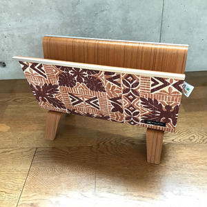 "reyn spooner×MB7r MAGAZINE RACK TEAK ""ALOHA KUIKI ORANGE"""