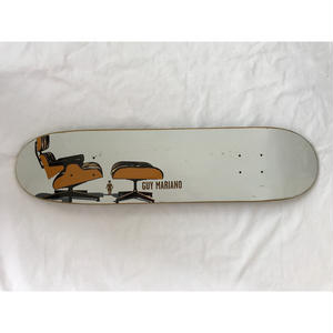 "2001年製 GIRL SKATEBOARDS The Modern Chair series SKATE DECK ""Lounge Chair"". Designed by Tony Larson."