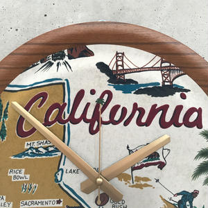 "reyn spooner×MB7r WALL CLOCK TEAK ""GOLDEN STATE"""