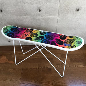 "PENDLETON×MB7r SKATE DECK STOOL WHITE ""SUGAR SKULL MULTI"""
