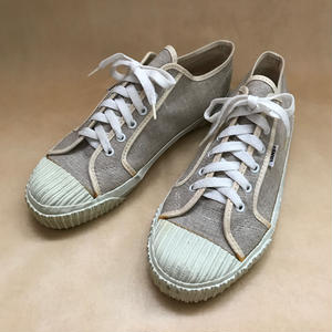 Deadstock 1990年代 アメリカ製 VANS PLIMSOLL W/RIBBED BUMPER NATURAL LINEN size 10 箱無し