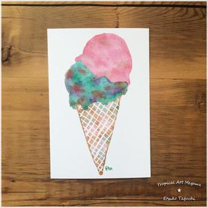 イチゴチョコミントアイスクリーム
