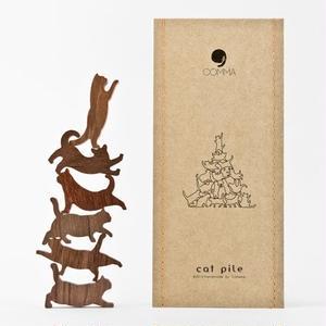 Cat Pile【オレンジ】地味にはまる!大人のつみき 色んなポーズのネコジェンガ 全5種類(A73004)
