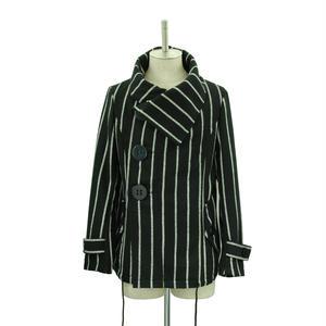 Big Button Short Coat / Stripe