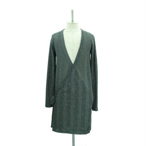 【Gray Last1】Cache-Cœur Long Cardigan