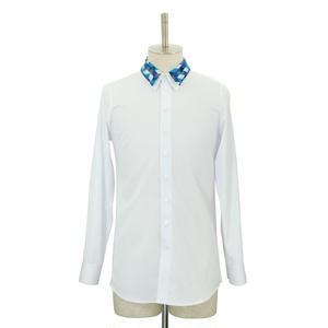 【White Last1】Double Collar Shirt