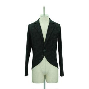 Block Pattern Tailored Cardigan