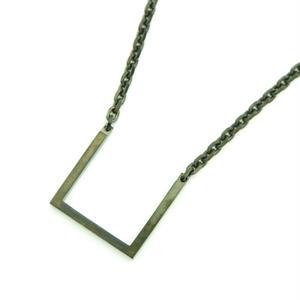 【Last1】Square Necklace / Black