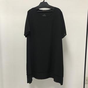 【Sample】レイヤードカットソー / ブラック×ブラック