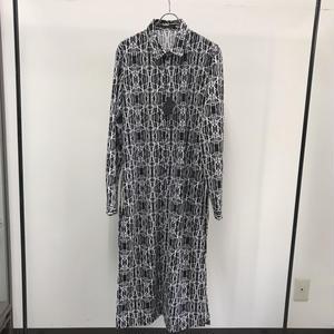 【Sample】ジオメトリックロングシャツ