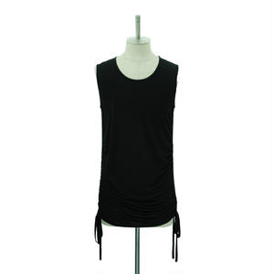 【Last1】Side Shirring Tank Top