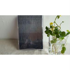 着物リメイク 縞銀黒 御朱印帳(神社サイズ)