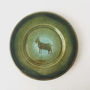 ヒージャー皿(苔)