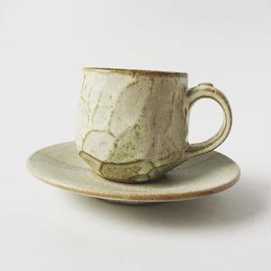 小石コーヒーカップ ソーサーセット