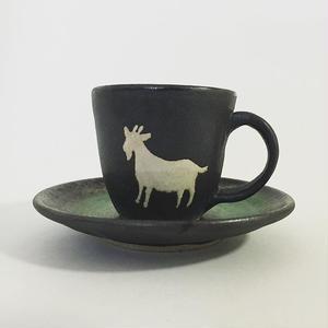 ヒージャーコーヒーカップ ソーサーセット