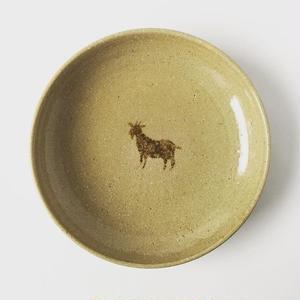 ヒージャー皿(茶・水色)