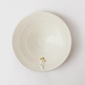 4寸皿(ぽわぽわ花)