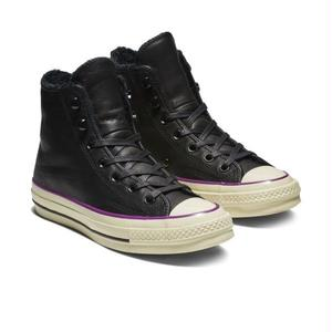 Chuck Taylor All Star 1970`s HI STREET WARMER LEATHER BLALCK  162433C (税込み.送料無料)