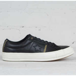 CONVERSE ONE STAR PIPINNG  Leather - BLACK
