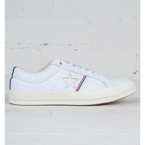 CONVERSE ONE STAR PIPINNG Leather - white