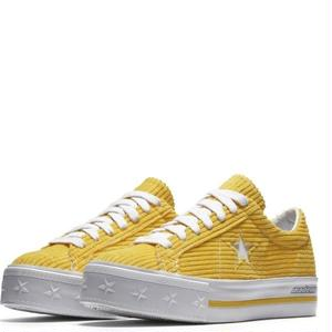 "Converse One Star Platform OX  ""MadeMe Collaboration""Vibrant Yellow"