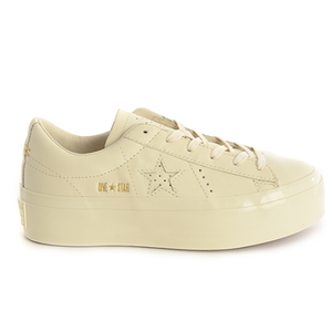 Converse Onestar Ox Platform - Leather WHITE