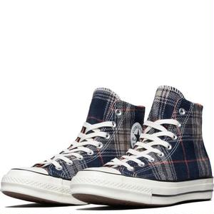 [CONVERSE] CHUCK TAYLOR ALL STAR 1970`s HI Plaid Pack Navy 162406C
