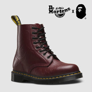 Dr. Martens and A BATHING APE® 1460 CHERRY RED