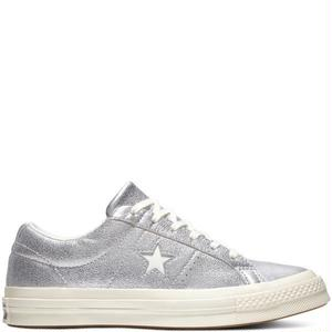 CONVERSE WOMEN ONE STAR OX SILVER 161590C