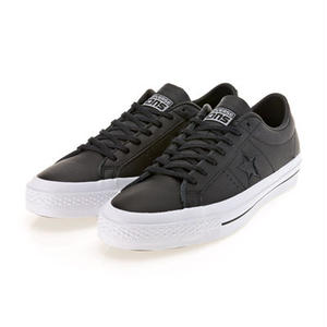 CONS ONE STAR LEATHER -  BLACK