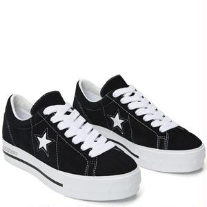 "Converse One Star Platform OX ""MadeMe Collaboration""BLACK 562959C (4cm up!)"