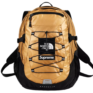 Supreme X The North Face Metallic Borealis Backpack gold