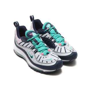 NIKE AIR MAX 98 PURE PLATINUM/OBSIDIAN-KINETIC GREEN