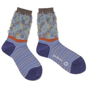 flower comouflage socks / ブルー