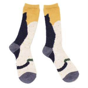 sleep cat socks / ネイビー
