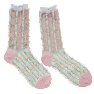 retro blowing socks / ブルー