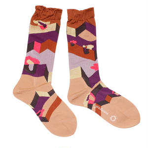 another dimention socks / ブラウン