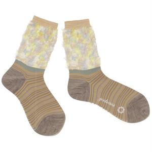 flower comouflage socks / ベージュ