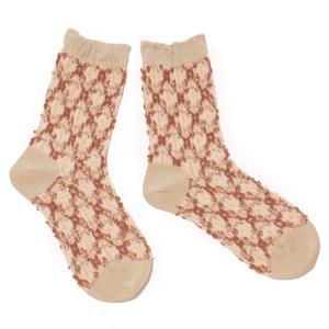 chain pop socks / ベージュ