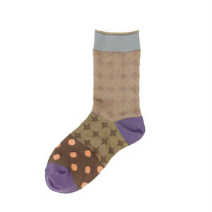 dots & dots socks/ベージュ